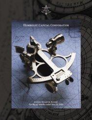 2005 Second Quarter Report - Humboldt Capital Corporation