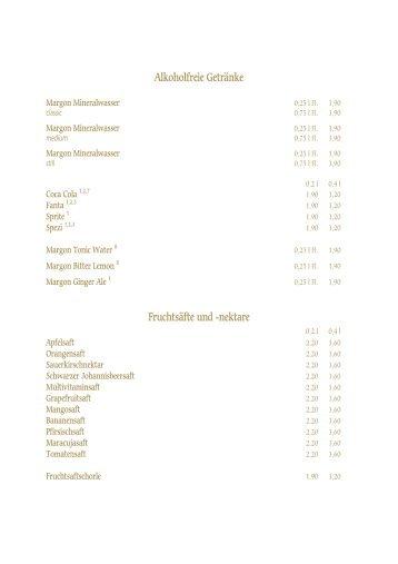 Alkoholfreie Getränke Fruchtsäfte und -nektare - Weinkeller ...