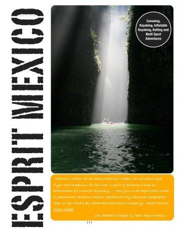 Mexico Week of Rivers - Esprit Rafting Adventures