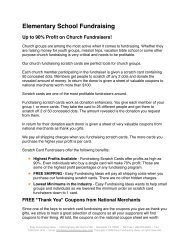 Elementary School Fundraising Up to 90% Profit on Church ...