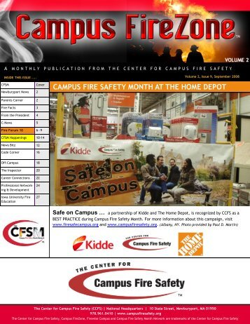 CAMPUS FIRE SAFETY MONTH AT THE HOME DEPOT - Center for ...