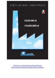 Click here to download the full specification Clicca qui per scaricare ...