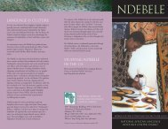Ndebele - National African Language Resource Center