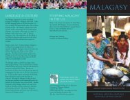 MALAGASY - National African Language Resource Center