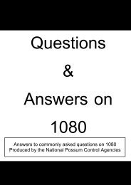 Questions and Answers on 1080 - Waikato Regional Council