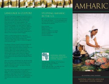 AMHARIC - National African Language Resource Center