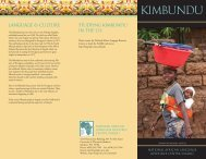 KIMBUNDU - National African Language Resource Center