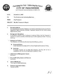 Monthly Treasurer's Report for the month ending ... - City of Inglewood