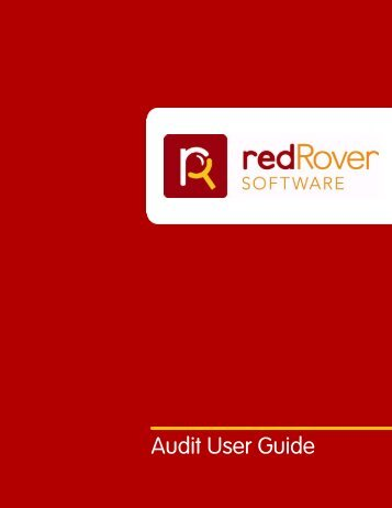 User Guide for RedRover Audit software - Mary Brune