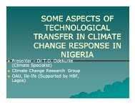 some aspects of technological transfer in climate change response ...
