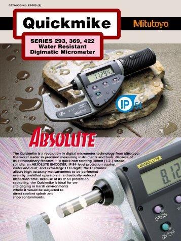 CATALOG No. E1005 (3) Quickmike - Mitutoyo America Corporation