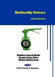 API609 BS5155 BUTTERFLY VALVES - V-FLO
