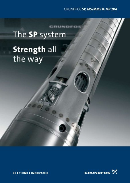The SP system Strength all the way - Grundfos