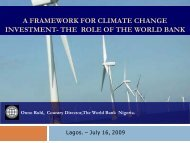 Development and Climate Change: A Strategic Framework for the ...