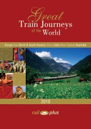 Train Journeys - Rail Plus