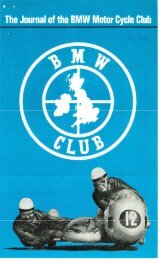 BMW Club Journal August 1969 - Archives