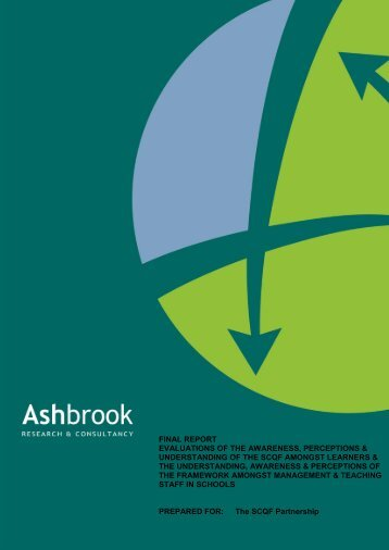 Ashbrook Report - Scottish Credit and Qualifications Framework