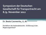 DGTR-Symposium 2012 - Deutsche Gesellschaft für Transportrecht