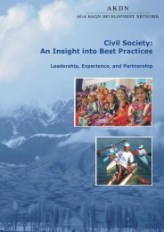 Civil Society: An Insight into Best Practices - Aga Khan Development ...
