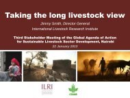 Taking the long livestock view - Global Agenda of Action for ...