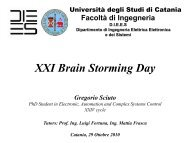 XXI Brain Storming Day - Phd.dees.unict.it - Università degli Studi di ...