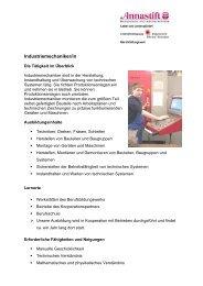 Industriemechaniker/in - annastift-berufsbildungswerk.de