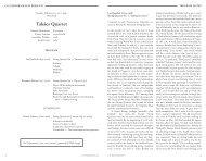 Takács Quartet - Cal Performances