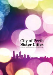 Perth Sister Cities Booklet - City of Perth