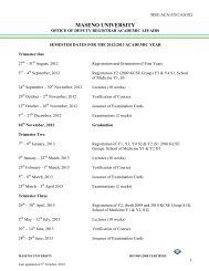 approved semester dates for 2011/2012 academic year - Maseno ...