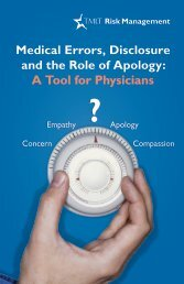 Medical errors, disclosure, and the role of apology: a tool for ... - TMLT
