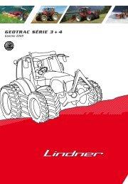 Geotrac Série 3 + 4 Gamme 2009 - Lindner Traktoren