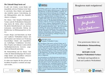 Flyer Schulprojekt 2012 - Rotary Club Salzgitter-Wolfenbuettel ...