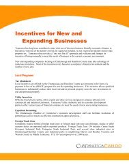 Incentives for New and Expanding Businesses - Chattanooga Area ...