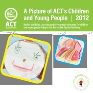 A Picture of ACT's Children and Young People 2012 - designer