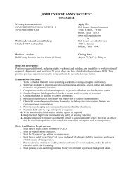 employment announcement 007/23/2012 - Bell County Home Page