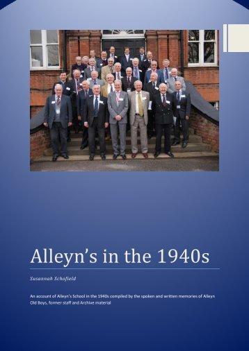 Alleynss in the 1940s - Alleyn's School