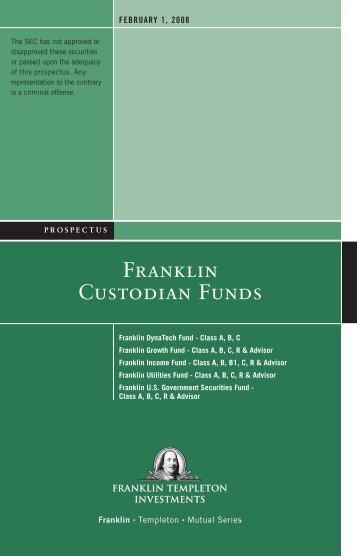 FRANkLIN CUSTODIAN FUNDS - Indiana Spine Group