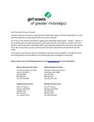 Volunteer Application - Girl Scouts of Greater Mississippi