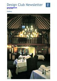 Design Club Newsletter - Hotel Designs