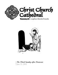 The Third Sunday after Pentecost - Christ Church Cathedral ...