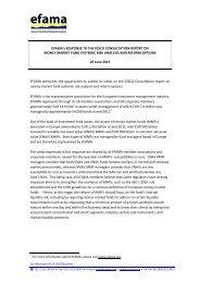 EFAMA's RESPONSE TO THE IOSCO CONSULTATION REPORT ...