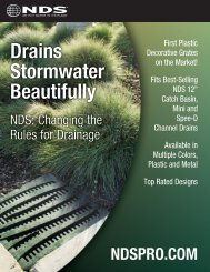 Drains Stormwater Beautifully - NDS