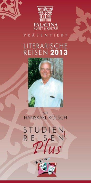 LITERARISCHE REISEN 2013
