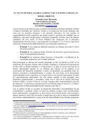 el pacto mundial (global compact) - Universidad de Zaragoza