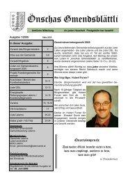 Gmendsblättle 01/2005 - Gemeinde Laterns