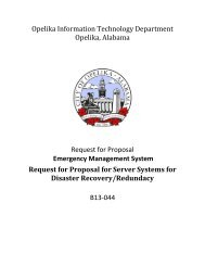 Request For Proposal - City of Opelika