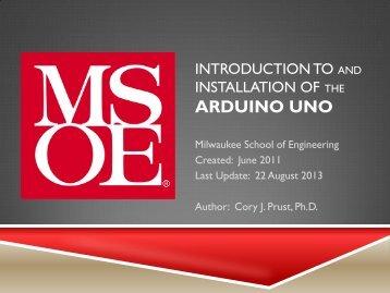ARDUINO UNO - Milwaukee School of Engineering