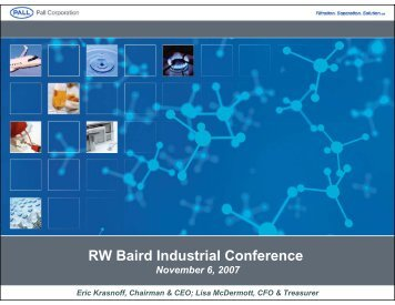 RW Baird Industrial Conference
