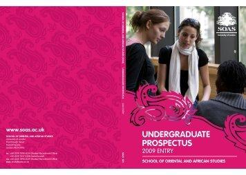 Undergraduate Prospectus 2009
