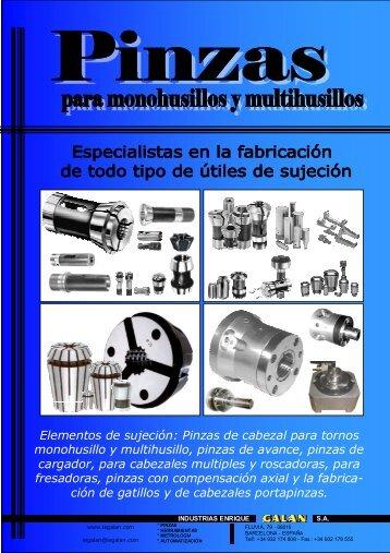 Pinzas cabezal - Industrias Enrique Galán, SA